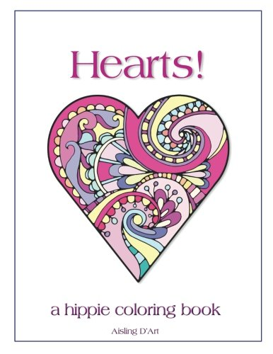 Hearts!: A Hippie Coloring Book