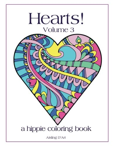 Hearts! Volume 3 – A Hippie Coloring Book