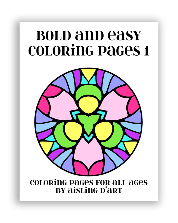 Bold and Easy Coloring Pages 1