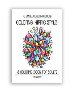 Small Coloring Book - hippie style