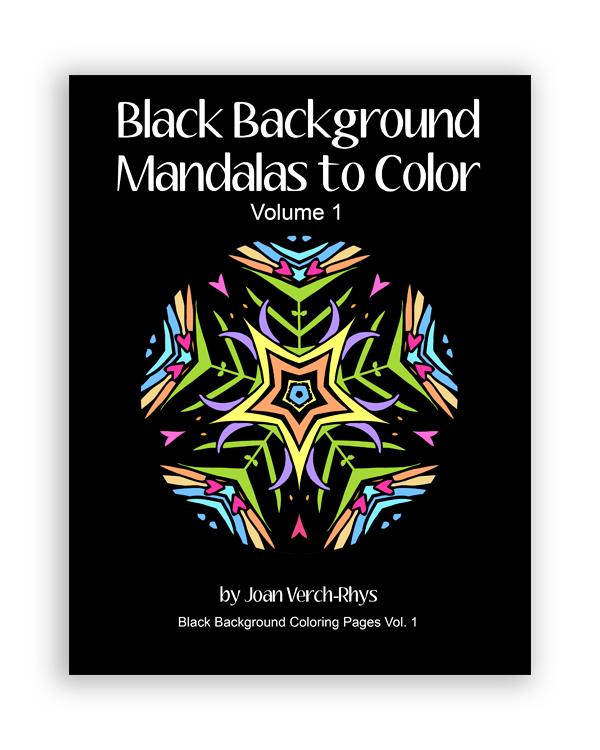 Black Background Mandalas to Color