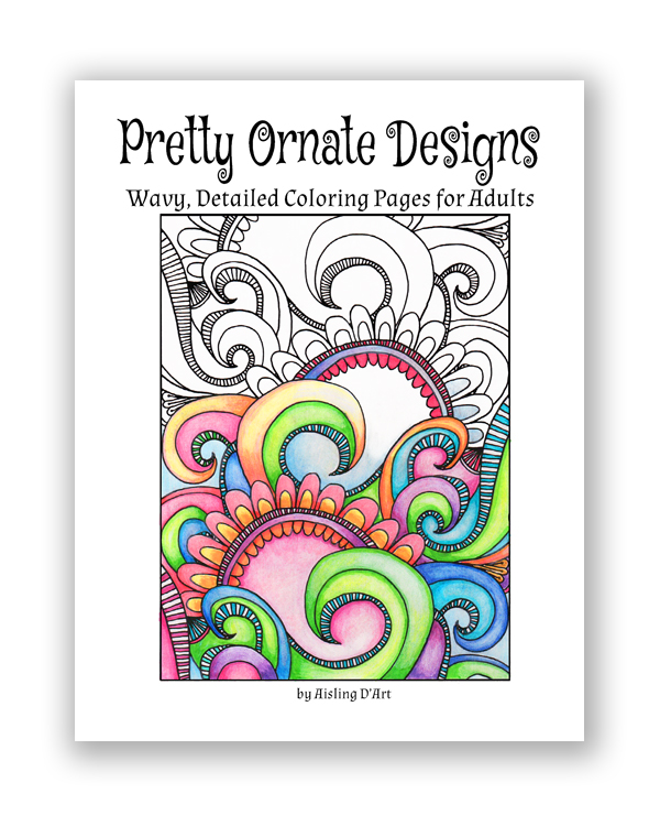 Pretty Ornate Designs: Wavy, Detailed Coloring Pages for Adults