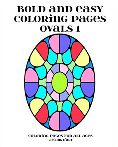 Bold and Easy Coloring Pages – Ovals 1